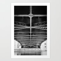 Chicago Riverwalk - Underneath Wabash Avenue Bridge Art Print