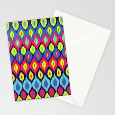 Neon Ikat Stationery Cards
