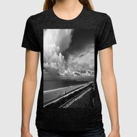 Torrance Beach Womens Fitted Tee Tri-Black SMALL
