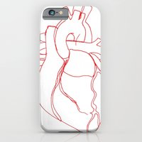 iPhone & iPod Case featuring Anatomical heart by Laurel Howells