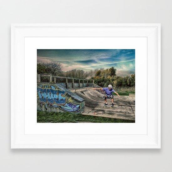 Skate Park Framed Art Print