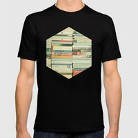 Bookworm Mens Fitted Tee Black SMALL