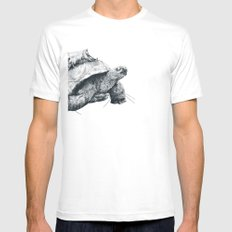 Tortoise Tree - Fall Mens Fitted Tee SMALL White