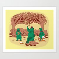 Rock The Forest Art Print