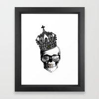 King skull Framed Art Print
