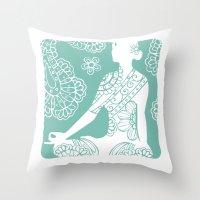 Turquoise Peace Throw Pillow