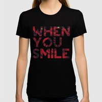 I Smile... Womens Fitted Tee Black SMALL