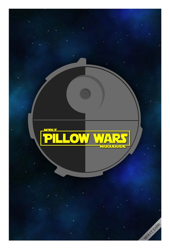 Pillow Wars with the Pillow Star Art Print