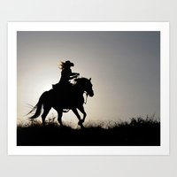 Cowgirl Adventure Art Print