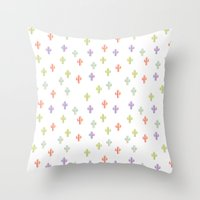 Catctus Multicolor Throw Pillow