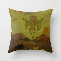 Lion Heaven Throw Pillow
