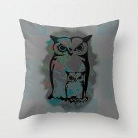 Little Big Owl Throw Pillow