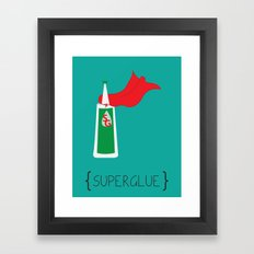 SuperGlue Framed Art Print