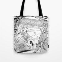 Midnight Blossom / Origi… Tote Bag