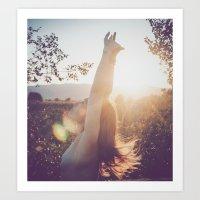 sunset lover Art Print