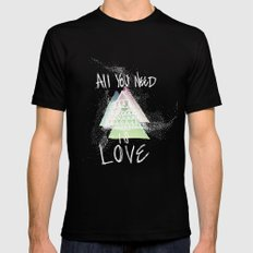 All You Need Is Love Mens Fitted Tee SMALL Black