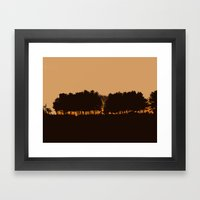 Harvey's Neck Sunset Framed Art Print