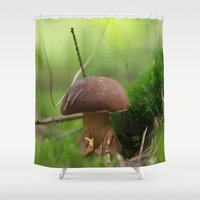 Mushroom Time In The For… Shower Curtain