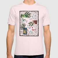 Through The Jungle Web Mens Fitted Tee Light Pink SMALL