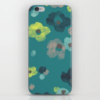 Watercolor Blooms - In T… iPhone & iPod Skin