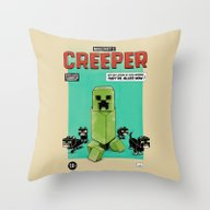 Throw Pillow featuring Creeper by Speakerine / Florent…