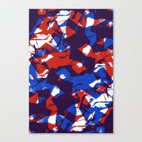 Scrunched paper pattern Canvas Print