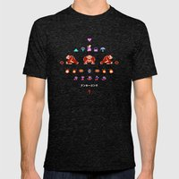 Donkey Kong Mens Fitted Tee Tri-Black SMALL