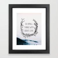 Small Things Framed Art Print