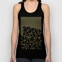 Ab Lines 45 Navy and Gold Unisex Tank Top