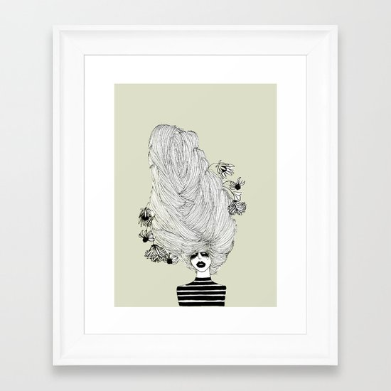 Hair Overload Framed Art Print