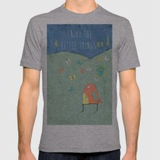 Enjoy the Little Things Mens Fitted Tee Athletic Grey SMALL