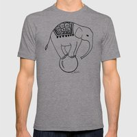 Circus Elephant Mens Fitted Tee Athletic Grey SMALL