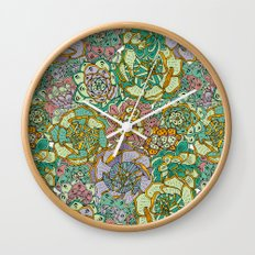 Blooming Succulents Wall Clock
