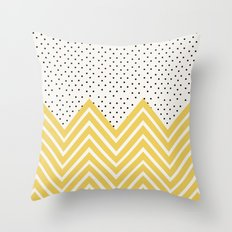 Chartreuse Chevron And D… Throw Pillow