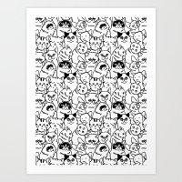 Oh Cats Art Print