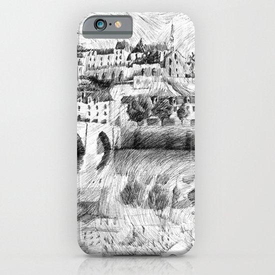 Terrasson village - Black ink iPhone & iPod Case