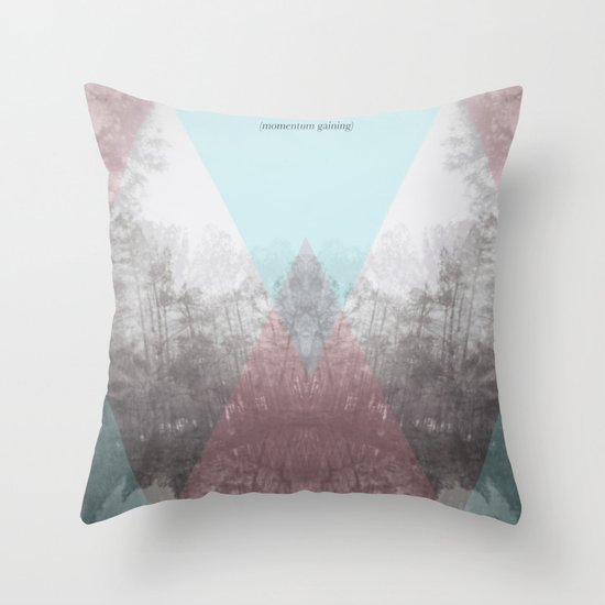 Hilltop Procession (ANALOG zine) Throw Pillow