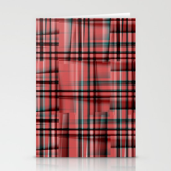 Pattern red 1 Stationery Card