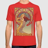 Raiponce Mens Fitted Tee Red SMALL