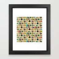Framed Art Print featuring Cream Merry Christmas An… by Sharon Turner