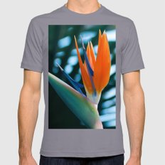 Bird Of Paradise Mens Fitted Tee Slate SMALL