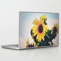 sunflower Laptop & iPad Skins featuring sunflower by Sylvia Cook Photography