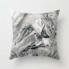 I feel rock&roll Throw Pillow