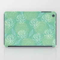 Pastel Peony and Leaf Pattern Design  iPad Case
