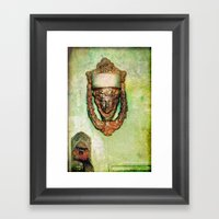 Brass Knocker Framed Art Print