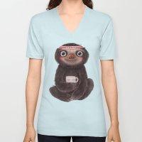 Sloth I♥yoga Unisex V-Neck