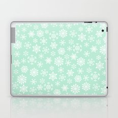 minty snow flakes Laptop & iPad Skin