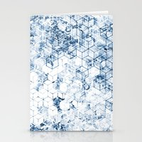 Flower Cubes Stationery Cards