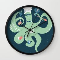 The Octopus Chef Wall Clock