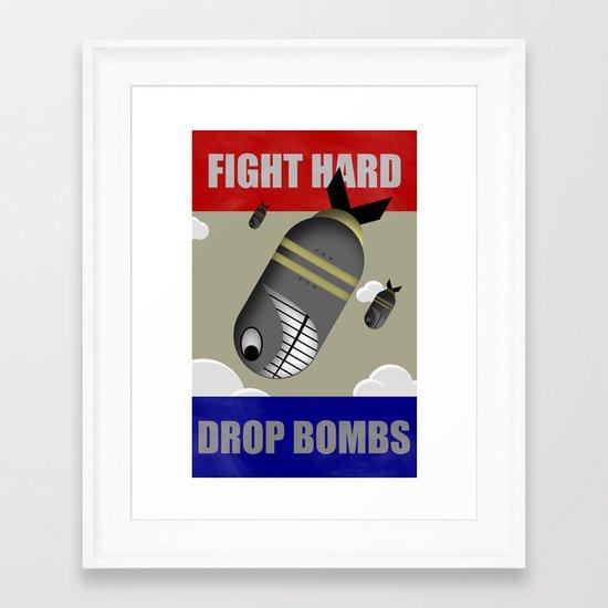 Propaganda Poster Framed Art Print